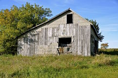 Old falling apart barn Royalty Free Stock Photo