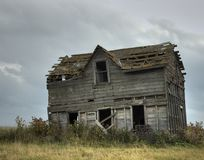 Old farm house. An old falling down farm house Royalty Free Stock Images