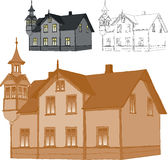 Old family house Royalty Free Stock Images