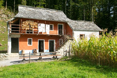 Old family house in Ballenberg, a Swiss open-air museum Royalty Free Stock Photos
