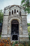 An old family-owned mausoleum, a crypt on an abandoned Jewish cemetery Stock Photography