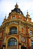 Old famous beautiful house in Kiev, Ukraine. Former restaurant Leipzig in Kiev, Ukraine Royalty Free Stock Photography