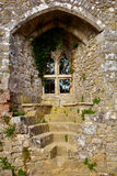 Old and Famous Isabella's window at Carisbrooke Castle, Newport, the Isle of Wight, England Stock Photos
