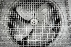 Old fan aircondition. Close-up Royalty Free Stock Photo