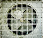 Old fan aircondition. Close-up Royalty Free Stock Photography