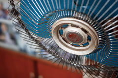 Old Fan. Retro styled with wood background Stock Image
