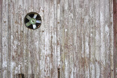 Old fan in wooden wall Royalty Free Stock Photos