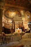 Old Fancy Catholic Church in Rome Stock Image