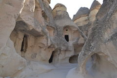 Old fancy houses in Cappadocia royalty free stock image