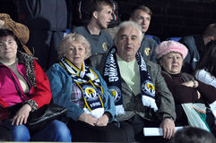 Old fans of Metallurg football team Royalty Free Stock Images