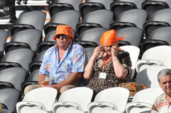 Old fans of Shakhtar Royalty Free Stock Photography