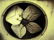 Old fans in the ventilation system Stock Photography