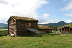 Old farm. Norwegian old farm, wooden buildings Stock Images