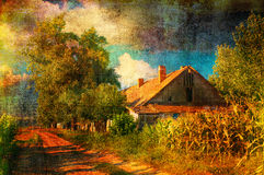 Old farm in the autumn royalty free stock photography