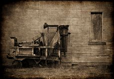 Old farm baler Stock Photo