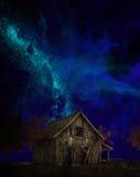 Old Farm Barn, Milky Way Royalty Free Stock Image
