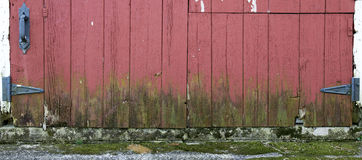 Old Farm Barn Wood Door Panorama Panoramic, Banner Stock Photo