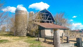 Old barn getting ready to fall down 3 royalty free stock photography