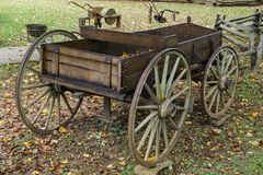 Old Farm Box Wagon Royalty Free Stock Photos