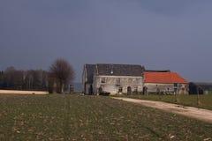 Old farm build of marlstone Stock Photo
