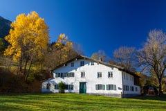 Old farm building in Allgäu. Old farm building in autumn near Pfronten in Allgäu, Bavaria, Germany Stock Image