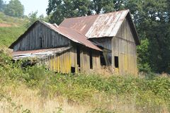 Old farm building near Amity, Oregon. This is an old farm building east of Amity, Oregon in the Willamette Valley royalty free stock photos
