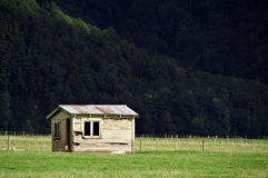 Old Farm Building New Zealand stock photography