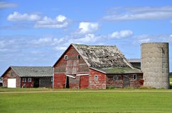 Old Farm Building Stand Idle In A Deteriorating State Royalty Free Stock Images