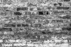 Old farm building wall white brick Stock Images