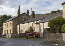 Old farm buildings, Kettlewell, Yorkshire royalty free stock photography