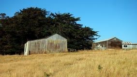 Old Farm Buildings, Tasmania. Old wood and corrugated iron farm buildings, Tasmania, Australia Royalty Free Stock Image