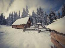 Old farm in the Carpathian mountains. Royalty Free Stock Photos