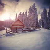 Old farm in the Carpathian mountains. Royalty Free Stock Photography