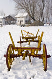 Old Farm Cart In The Snow Royalty Free Stock Photography