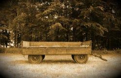 Old farm cart trailer. Old antique vintage cart trailer Stock Photo
