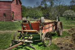 Old Farm Cart Stock Photography