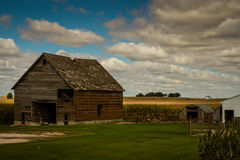 Old Farm. An old corn farm in the heart on Iowa Royalty Free Stock Image