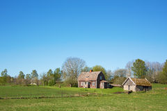 OLd farm in countryside Royalty Free Stock Photos