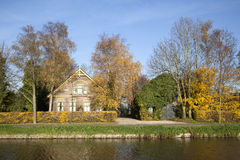 Old farm between De Meern and Harmelen in The Netherlands. And autumn colors Royalty Free Stock Image