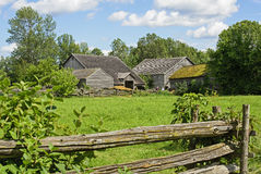 Old farm in Eastern Canada Stock Photo
