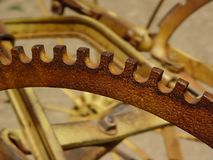 Old Farm Equipment. Gears stock photo