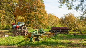Old farm equipment Royalty Free Stock Image
