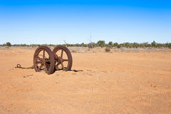 Old farm equipment left in outback Australia. Stock Photos