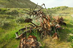 Old farm equipment Stock Image