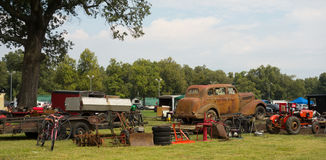 Old farm equipment for sale at an annual fair in kentucky Royalty Free Stock Photography