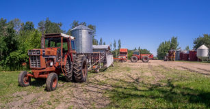 Old farm equipment Stock Images