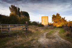 Old Farm Grain Silo Stock Photo