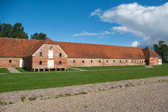 Old farm horse stable Denmark Stock Images