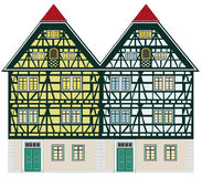Old farm house. Traditional houses from the middle-age anywhere in Europe Royalty Free Stock Images