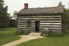 Old Farm House. Quaint old historic log cabin farm house Stock Images